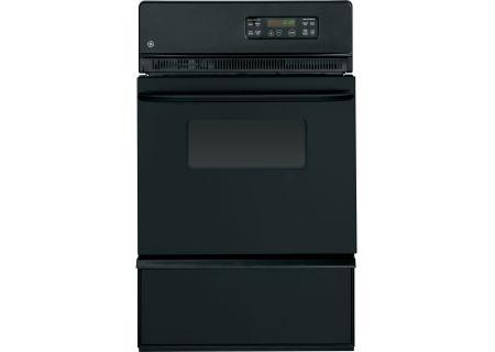 "GE 24"" Black Gas Single Wall Oven - JGRP20BEJB"