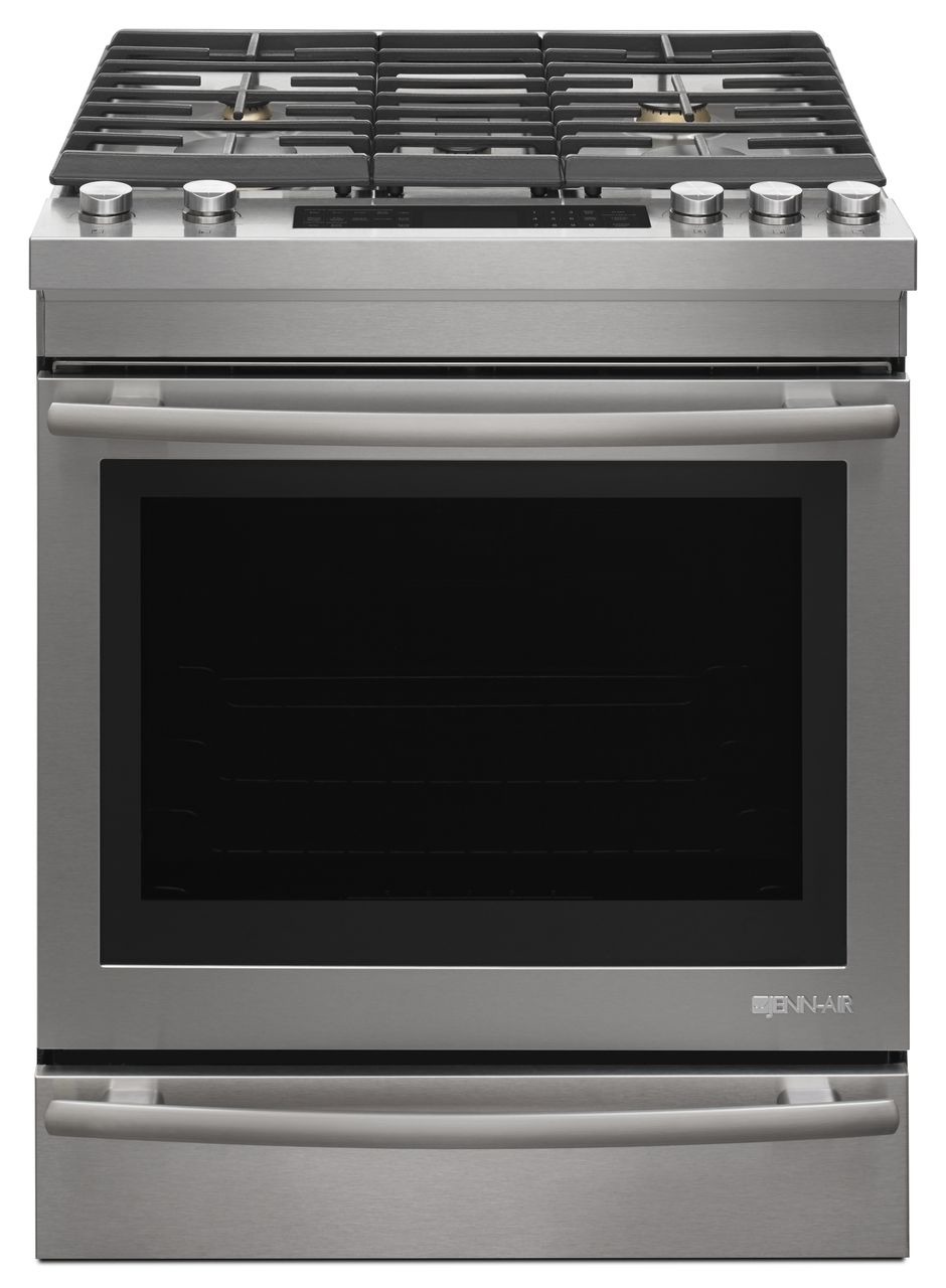 Jenn Air 30 Euro Style Stainless Steel Slide In Gas Range
