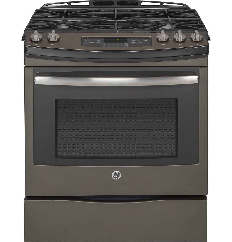 Ge 30 slate slide in gas range jgs750eefes abt for Abt appliances