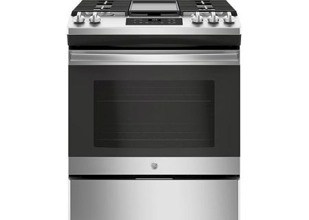 "GE 30"" Stainless Steel Slide-In Gas Range - JGSS66SELSS"
