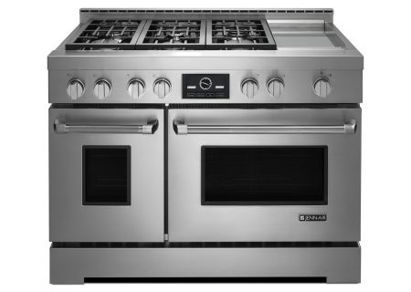 "Jenn-Air 48"" Pro-Style Stainless Steel Liquid Propane Gas Range - JLRP548WP"