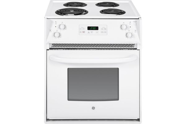 """Large image of GE 27"""" White Drop-In Electric Range - JM250DFWW"""