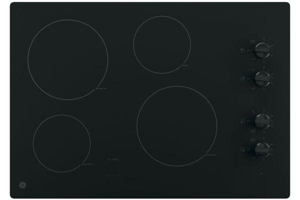 "GE 30"" Black Electric Cooktop - JP3030DJBB"