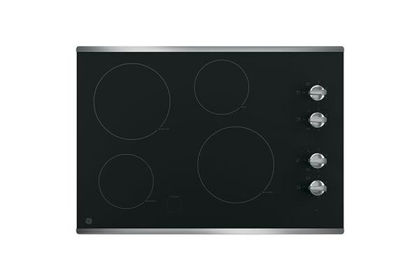 """GE 30"""" Stainless Steel Electric Cooktop - JP3030SJSS"""