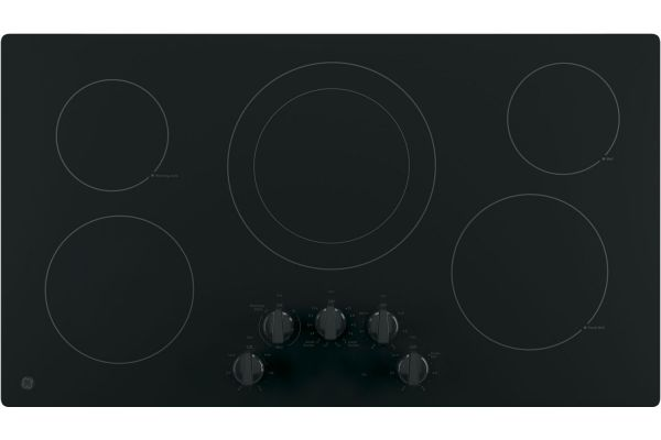 """GE 36"""" Black Electric Cooktop - JP3036DLBB"""