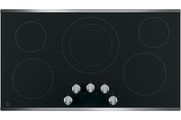 "GE 36"" Stainless Steel Electric Cooktop - JP3036SLSS"