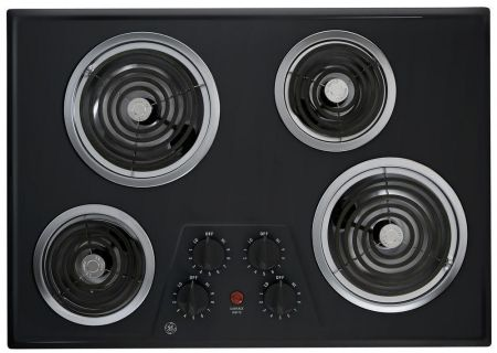 "GE 30"" Built-In Electric Cooktop In Black - JP328BKBB"