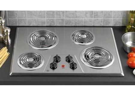 "GE 30"" Built-In Electric Cooktop In Stainless Steel - JP328SKSS"
