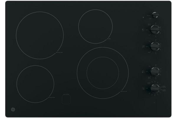 "GE 30"" Black Electric Cooktop - JP3530DJBB"