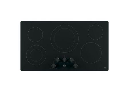 "GE 36"" Black Electric Cooktop - JP3536DJBB"