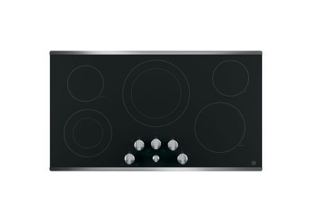 """GE 36"""" Stainless Steel Electric Cooktop - JP3536SJSS"""