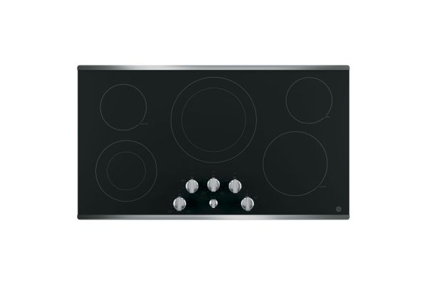 "GE 36"" Stainless Steel Electric Cooktop - JP3536SJSS"
