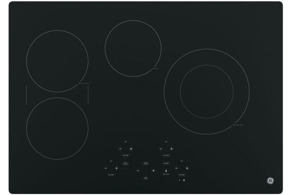 "Large image of GE 30"" Black Electric Cooktop - JP5030DJBB"