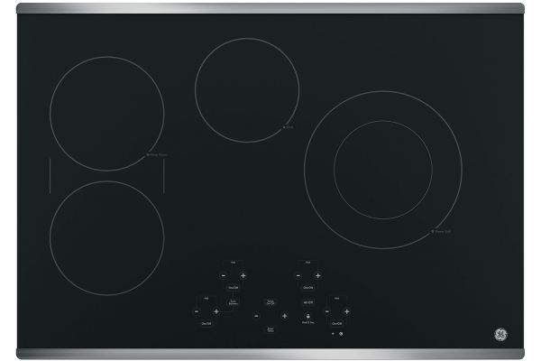 """GE 30"""" Stainless Steel Electric Cooktop - JP5030SJSS"""