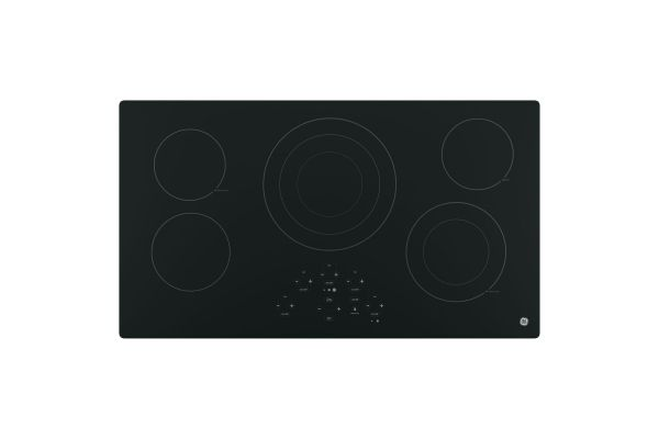 """GE 36"""" Black Touch Control Electric Cooktop - JP5036DJBB"""