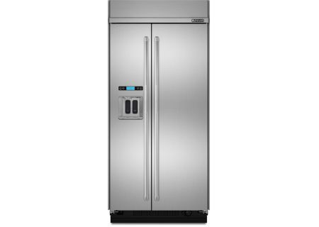 "Jenn-Air 42"" Built-In Stainless Steel Side-By-Side Refrigerator - JS42PPDUDE"