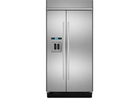 "Jenn-Air 48"" Built-In Stainless Steel Side-By-Side Refrigerator  - JS48SSDUDE"