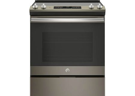 "GE 30"" Slate Slide-In Electric Range - JS660ELES"