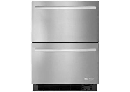 "Jenn-Air 24"" Stainless Steel Refrigerator Freezer Drawers - JUD24FCERS"