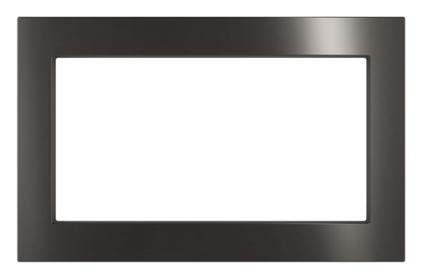 """Large image of GE Black Stainless 27"""" Built-In Microwave Oven Trim Kit - JX7227BLTS"""