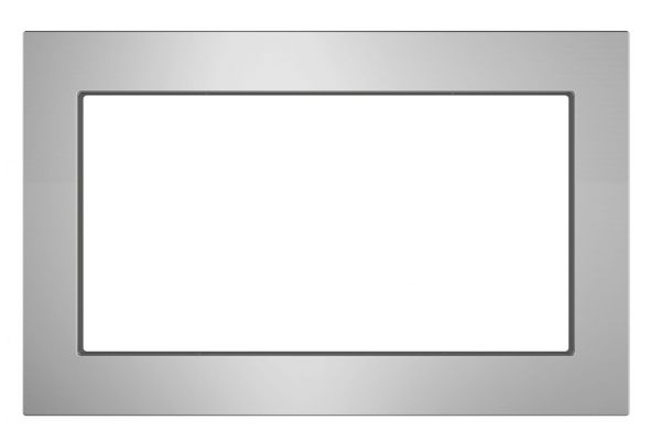 """Large image of GE Stainless Steel 27"""" Built-In Microwave Oven Trim Kit - JX7227SLSS"""