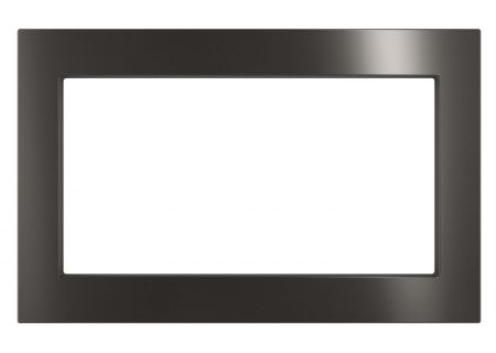 "GE Black Stainless 30"" Built-In Microwave Oven Trim Kit - JX7230BLTS"