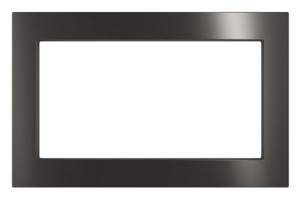 """Large image of GE Black Stainless 30"""" Built-In Microwave Oven Trim Kit - JX7230BLTS"""