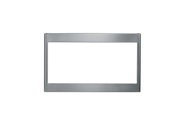 "Large image of GE Stainless Steel 27"" Deluxe Built-In Microwave Oven Trim Kit - JX827SFSS"
