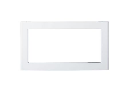 """GE White 30"""" Deluxe Built-In Microwave Oven Trim Kit - JX830DFWW"""
