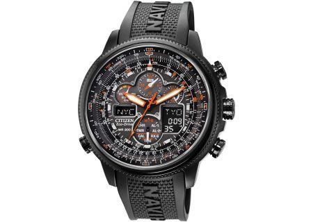 Citizen Eco-Drive Black Navihawk A-T Mens Watch - JY8035-04E