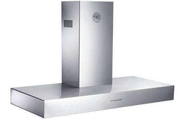 "Large image of Bertazzoni Design Series 48"" Stainless Steel Wall Hood  - K48CONX/14"