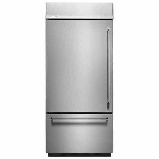 kitchenaid stainless built in refrigerator kbbl306ess