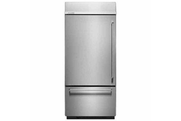 KitchenAid 20.9 Cu. Ft. Stainless Steel Built-In Bottom Freezer Refrigerator  - KBBL306ESS
