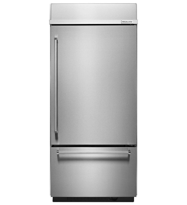 kitchenaid 36 built in stainless steel bottom mount refrigerator