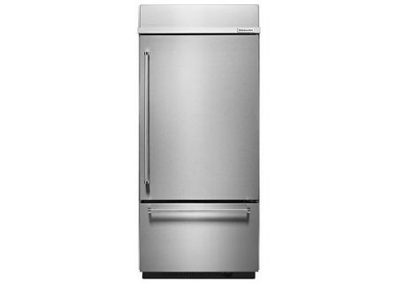 KitchenAid 20.9 Cu. Ft. Stainless Steel Built-In Bottom Freezer Refrigerator  - KBBR306ESS