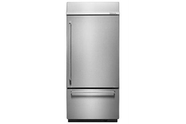 Large image of KitchenAid 20.9 Cu. Ft. Stainless Steel Built-In Bottom Freezer Refrigerator - KBBR306ESS