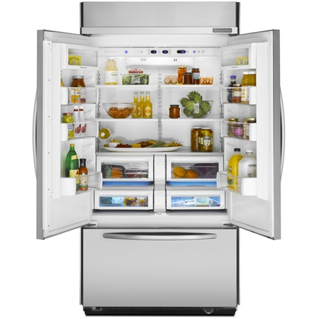 Kitchenaid Stainless French Door Refrigerator Kbfc42fts