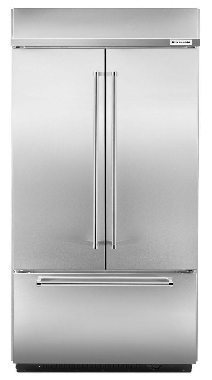 kitchenaid built in stainless french door refrigerator kbfn402ess
