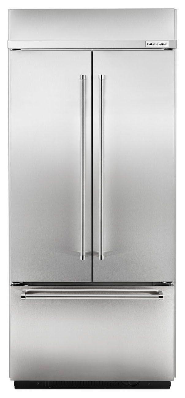 kitchenaid built in stainless refrigerator kbfn406ess
