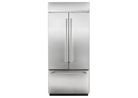KitchenAid Built-In Stainless French Door Refrigerator - KBFN406ESS