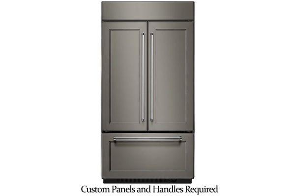 "KitchenAid 42"" Built-In Panel Ready French Door Refrigerator With Platinum Interior Design - KBFN502EPA"