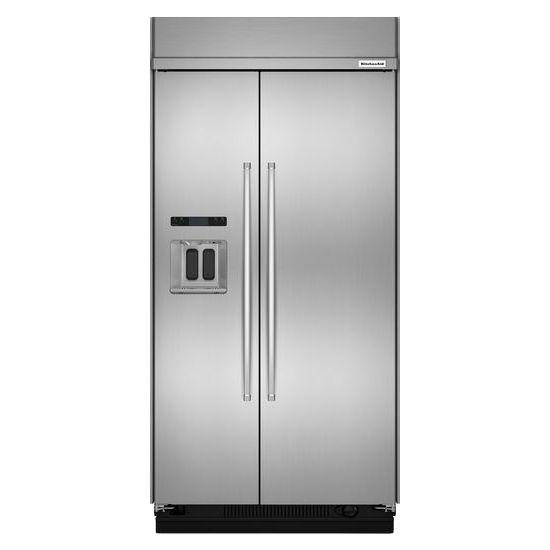 kitchenaid kbsd608ess built in side by side refrigerators