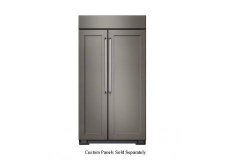KitchenAid 25.5 Cu. Ft. Panel Ready Built-In Side-By-Side Refrigerator  - KBSN602EPA