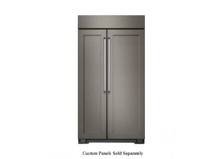 KitchenAid 30 Cu. Ft. Panel Ready Built-In Side-By-Side Refrigerator  - KBSN608EPA