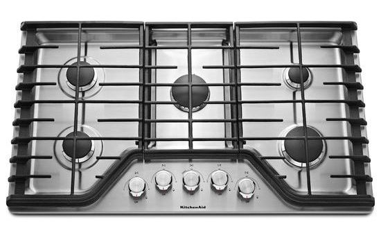 Kitchenaid 36 Stainless Steel 5 Burner Gas Cooktop Kcgs356ess