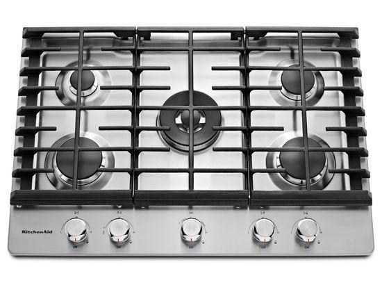 Kitchenaid 30 Stainless Steel 5 Burner Gas Cooktop Kcgs550ess