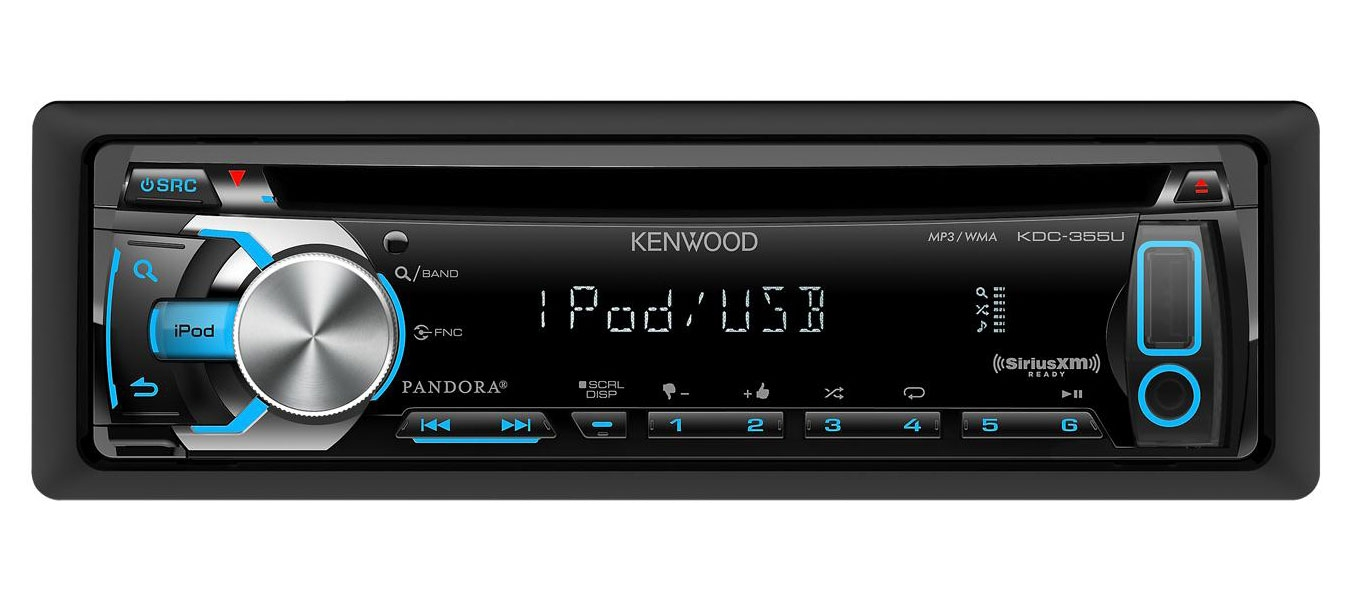 Kenwood single din in dash stereo receiver kdc 355u abt