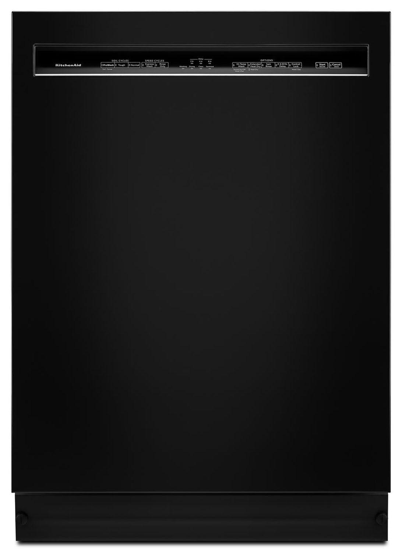 Kitchenaid Dishwasher White >> Kitchenaid 24 Black Built In Dishwasher