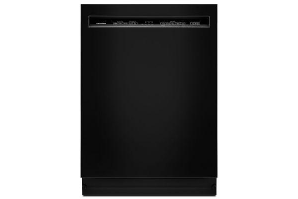 "Large image of KitchenAid 24"" Black Built-In Dishwasher - KDFE104HBL"