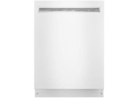 "KitchenAid 24"" White Built-In Dishwasher - KDFE104HWH"